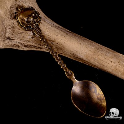 Skull Spoon Gold