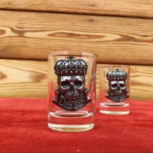 Crowned Skull Dead Shot Glass