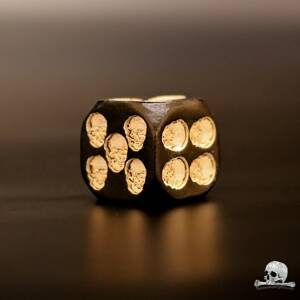 Black Skull Dice 1 pcs