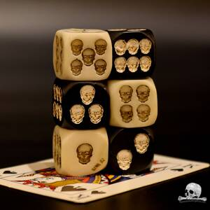 Mixed Skull Dice 6 pcs