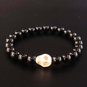 Black Small Positive Skull Bracelet
